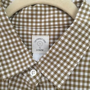 Checkered J. Crew Button down